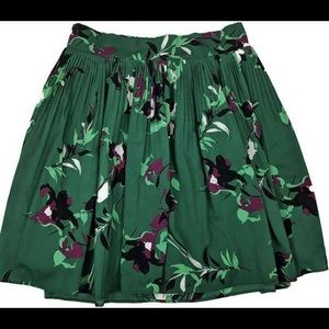 XL Green Pleated Tropical Skirt  🏝 Merona Target